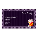 Purple Popcorn Double-Sided Standard Business Cards (Pack Of 100)