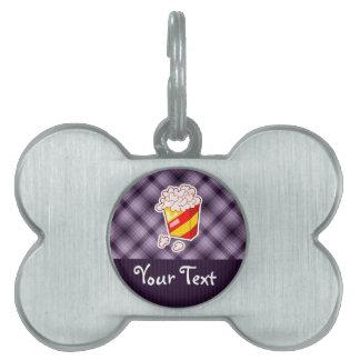 Purple Popcorn Pet ID Tag