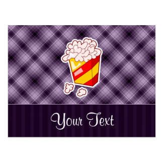 Purple Popcorn Postcard