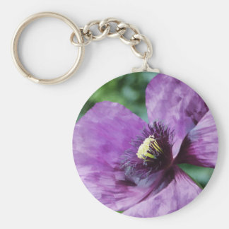 Purple Poppies / Violet Keychain