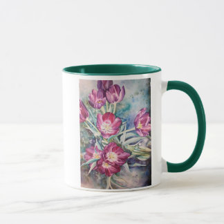 Purple Poppy Floral Watercolor Mother's Day Mug