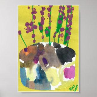 Purple Posies Print