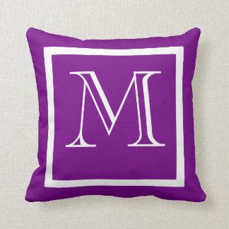 Purple Positive Negative Monogrammed Pillow