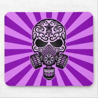 Purple Post Apocalyptic Sugar Skull Mouse Pad