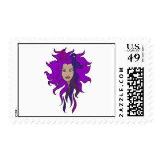 Purple Postage Stamp