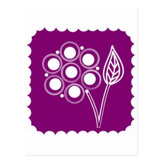 Purple Posy Postcard