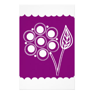 Purple Posy Custom Stationery