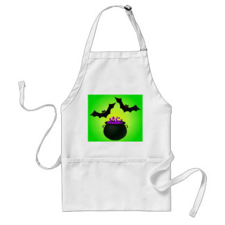 Purple Potion and Bat Green Adult Apron