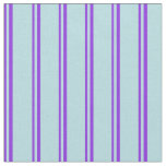 [ Thumbnail: Purple & Powder Blue Colored Pattern of Stripes Fabric ]