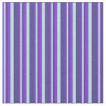[ Thumbnail: Purple, Powder Blue & Dark Slate Blue Stripes Fabric ]