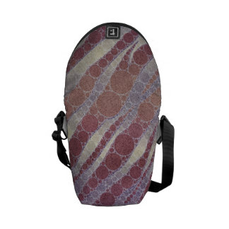 Purple Powder Zebra Messenger Bags