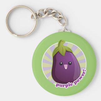 Purple Power! Basic Round Button Keychain