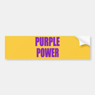 PURPLE POWER BUMPER STICKER