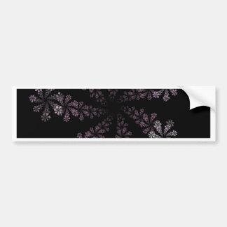 Purple Power Fractal Flower Hippie Love Design Car Bumper Sticker