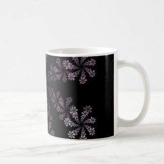 Purple Power Fractal Flower Hippie Love Design Coffee Mug