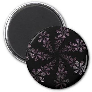 Purple Power Fractal Flower Hippie Love Design Magnet