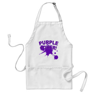 Purple Power with a Big Splat of Paint Adult Apron