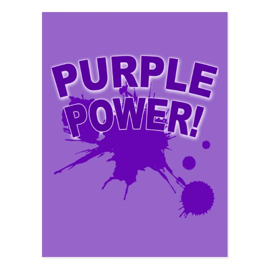 Purple Power with a Big Splat of Paint Postcard