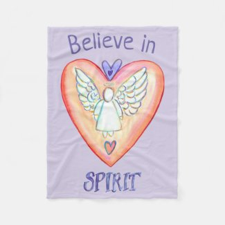 Purple Prayer Angel Blanket