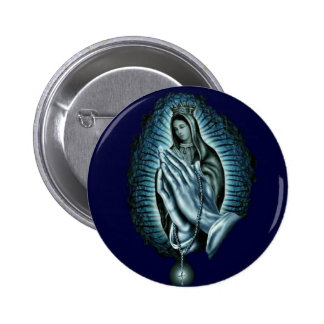 Purple Prayer Blessed Virgin Mary Button