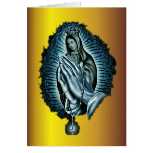 Purple Prayer Blessed Virgin Mary Card