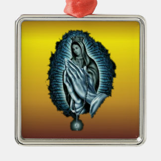 Purple Prayer Blessed Virgin Mary Ornament
