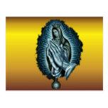 Purple Prayer Blessed Virgin Mary Post Card