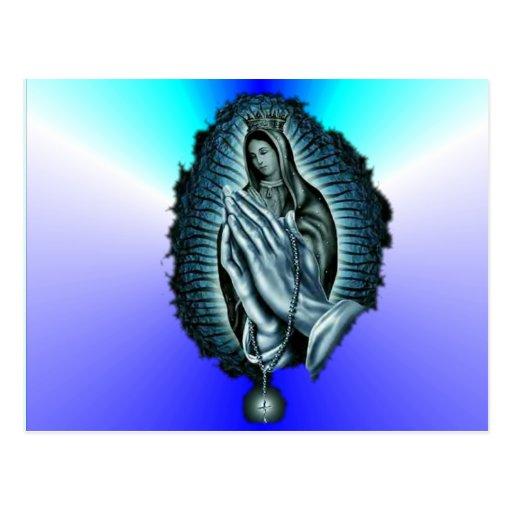 Purple Prayer Blessed Virgin Mary Postcard