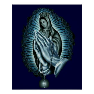 Purple Prayer Blessed Virgin Mary Print