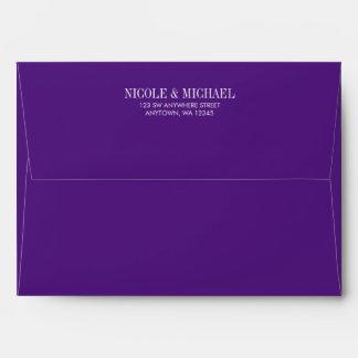 Purple Pre-Addressed A7 Envelope