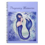 Purple pregnancy mermaid memory book by Renee