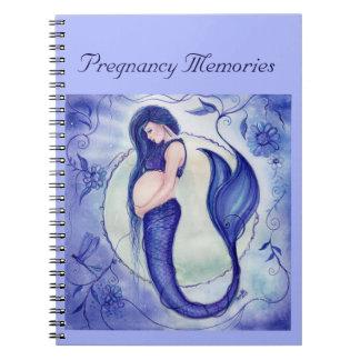 Purple pregnancy mermaid memory book by Renee Note Book