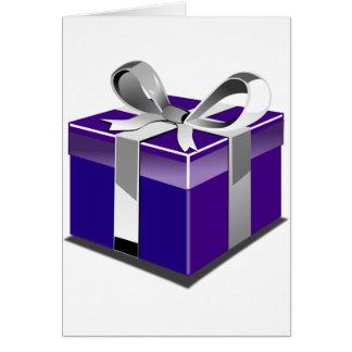 Purple Present Card