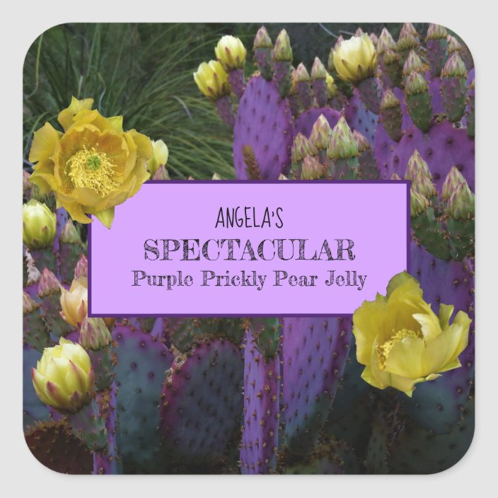 Purple Prickly Pear Cactus Jelly Jar Labels Zazzle Com,How Long To Cook Meatloaf 2 Pounds