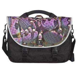 Purple Prickly Pear Laptop Messenger Bag