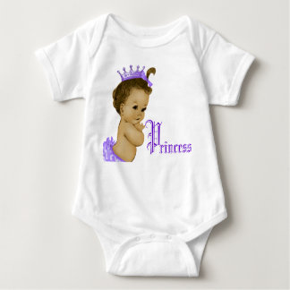 Purple Princess African American Baby Girl Shirts