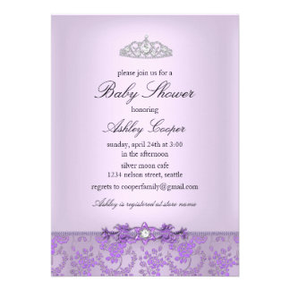 Purple Princess Baby Shower Invitation