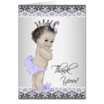 Purple Princess Baby Shower Thank You Card