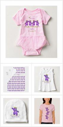 Purple Princess Bear Baby Gifts
