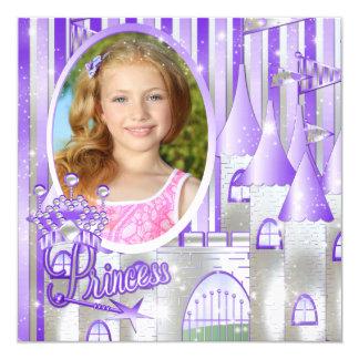 Purple Princess Birthday Party Card
