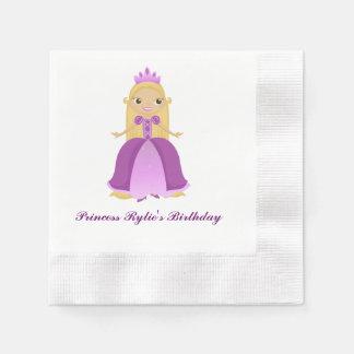 Purple Princess Birthday (personalize) Napkin