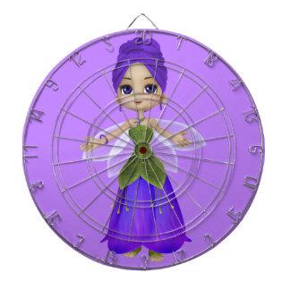 Purple Princess Butterfly Dart Board