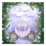 Purple Princess Carriage Enchanted Sweet 16 Announcement