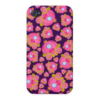 Purple princess carriage pattern covers for iPhone 4