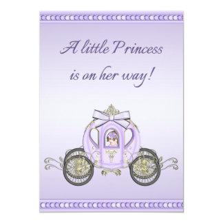 Purple Princess Coach Girls Baby Shower Invites