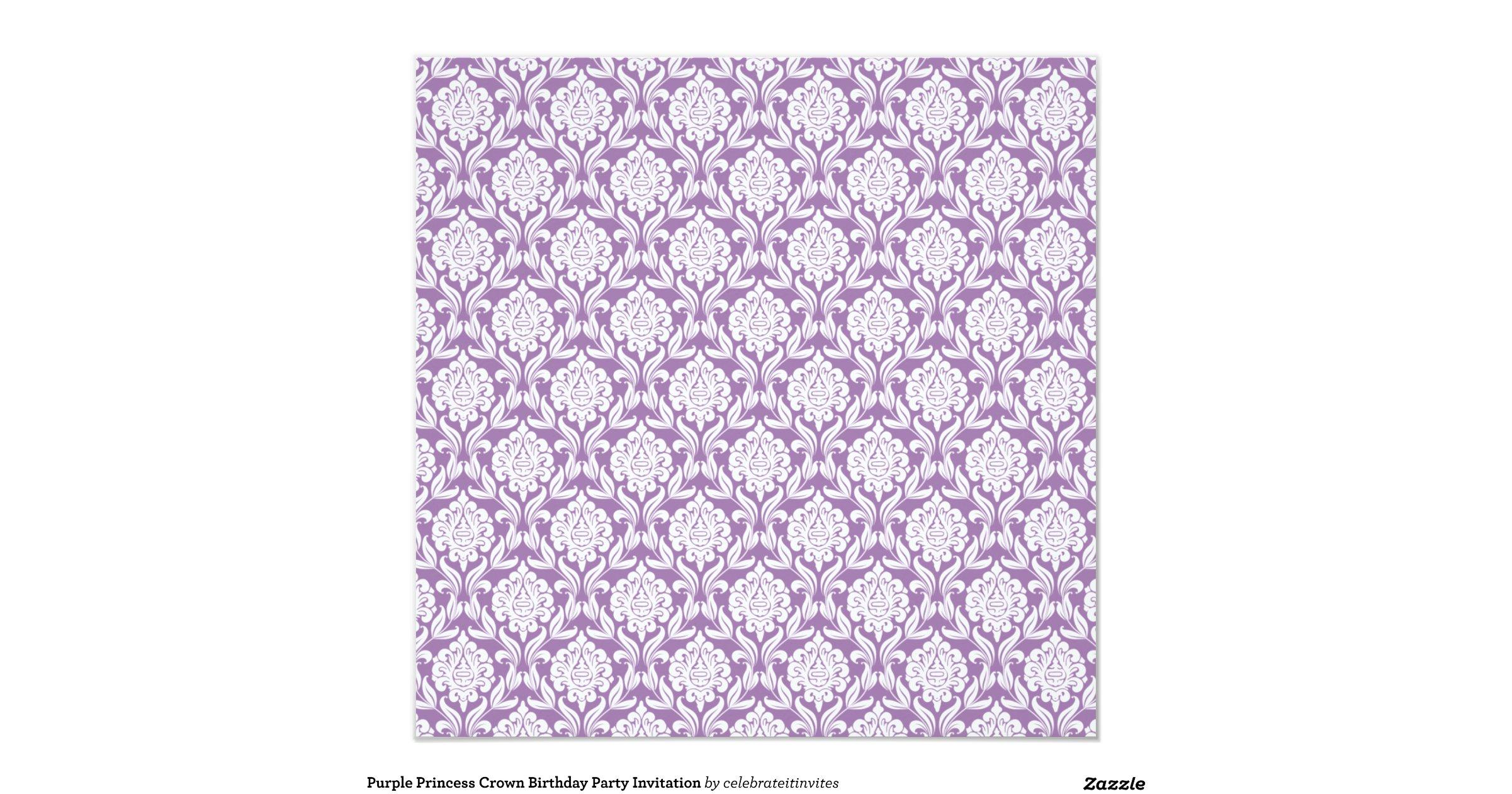 purple_princess_crown_birthday_party_invitation ...