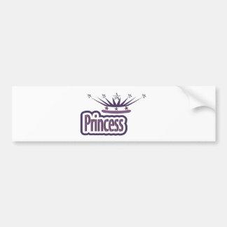 Purple Princess Crown Bumper Sticker