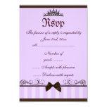 Purple Princess RSVP 3.5x5 Paper Invitation Card