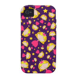 Purple princesses and stars Case-Mate iPhone 4 covers