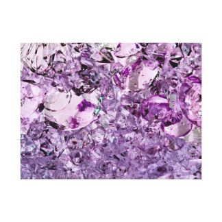 Purple Prismatic 24x18 stretched canvas print